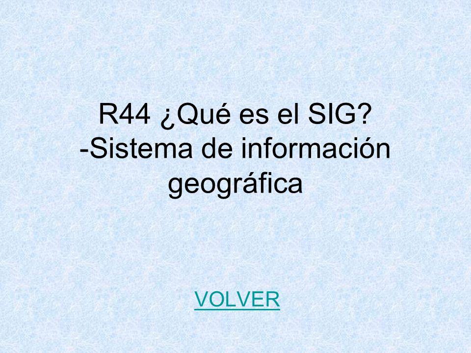 R44 ¿Qué es el SIG -Sistema de información geográfica