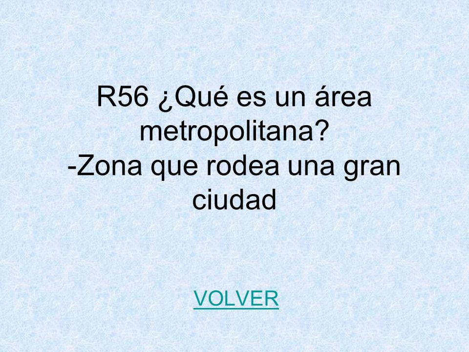 R56 ¿Qué es un área metropolitana -Zona que rodea una gran ciudad