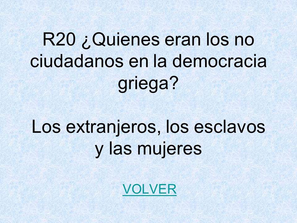 R20 ¿Quienes eran los no ciudadanos en la democracia griega