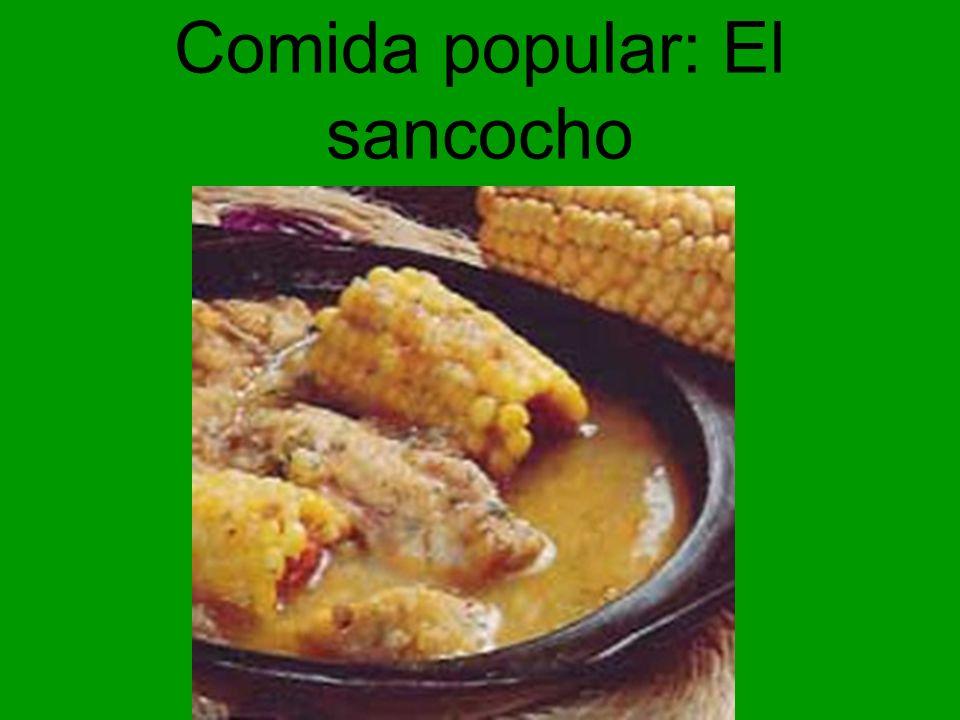 Comida popular: El sancocho