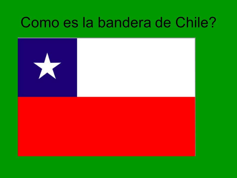 Como es la bandera de Chile