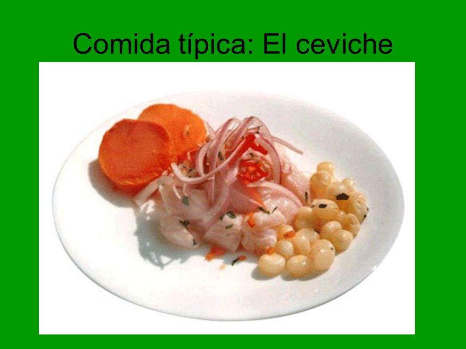 Comida típica: El ceviche