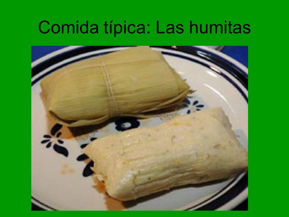 Comida típica: Las humitas