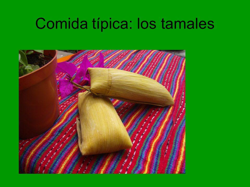 Comida típica: los tamales