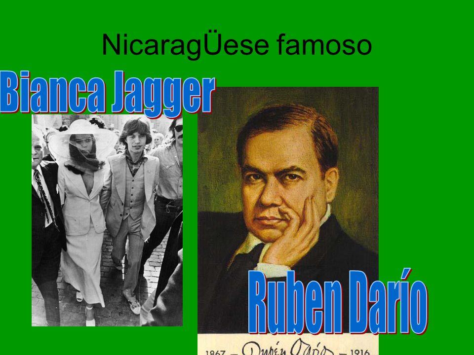 NicaragÜese famoso Bianca Jagger Ruben Darío