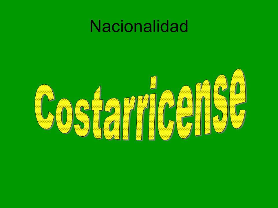 Nacionalidad Costarricense