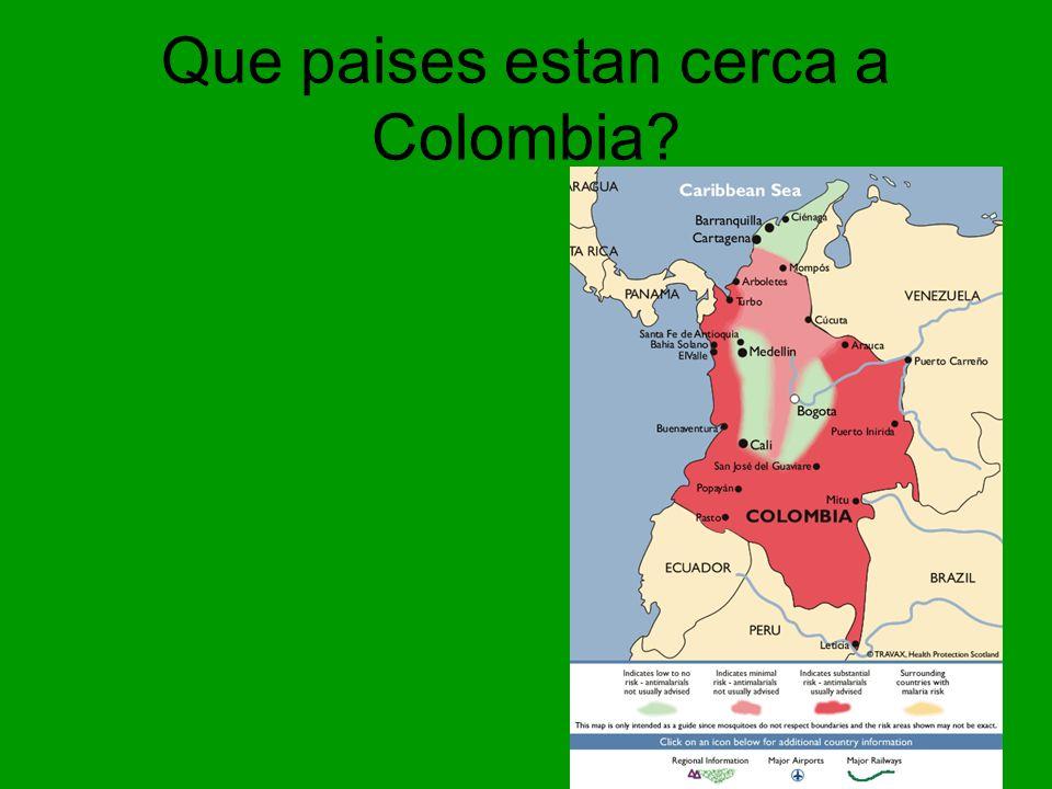 Que paises estan cerca a Colombia