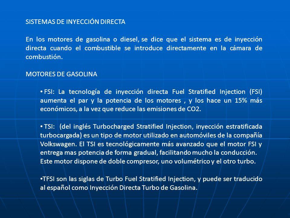 SISTEMAS DE INYECCIÓN DIRECTA