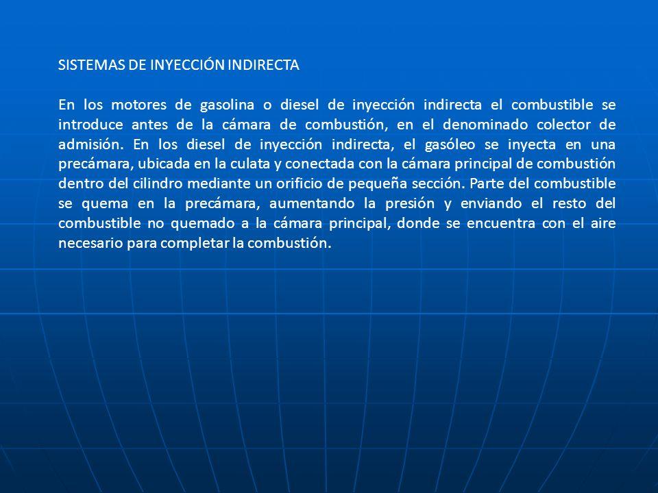 SISTEMAS DE INYECCIÓN INDIRECTA