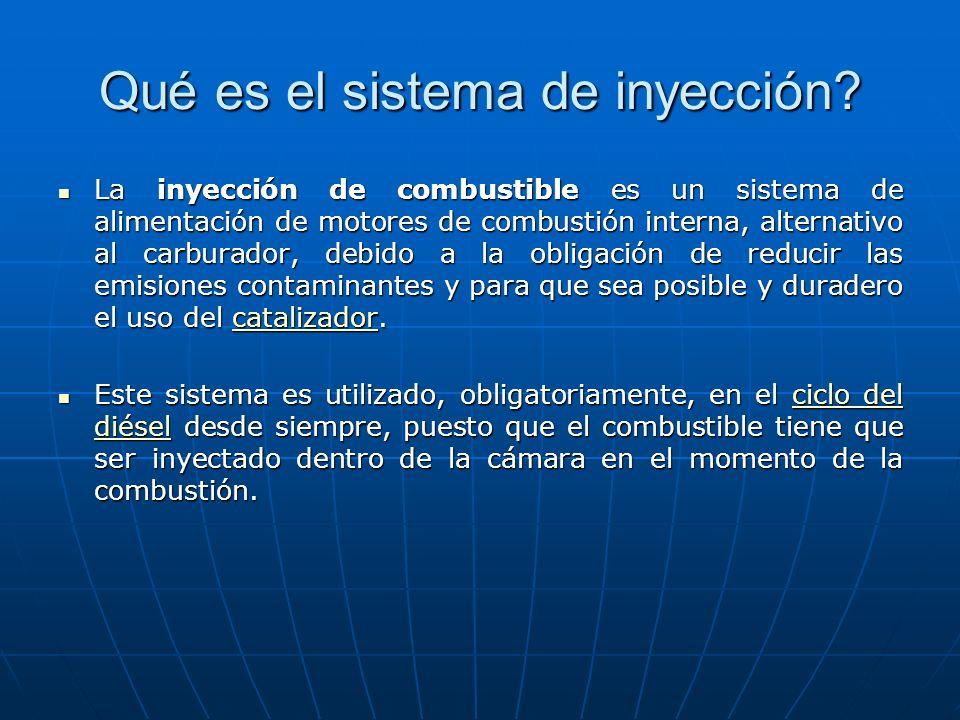 Qué es el sistema de inyección