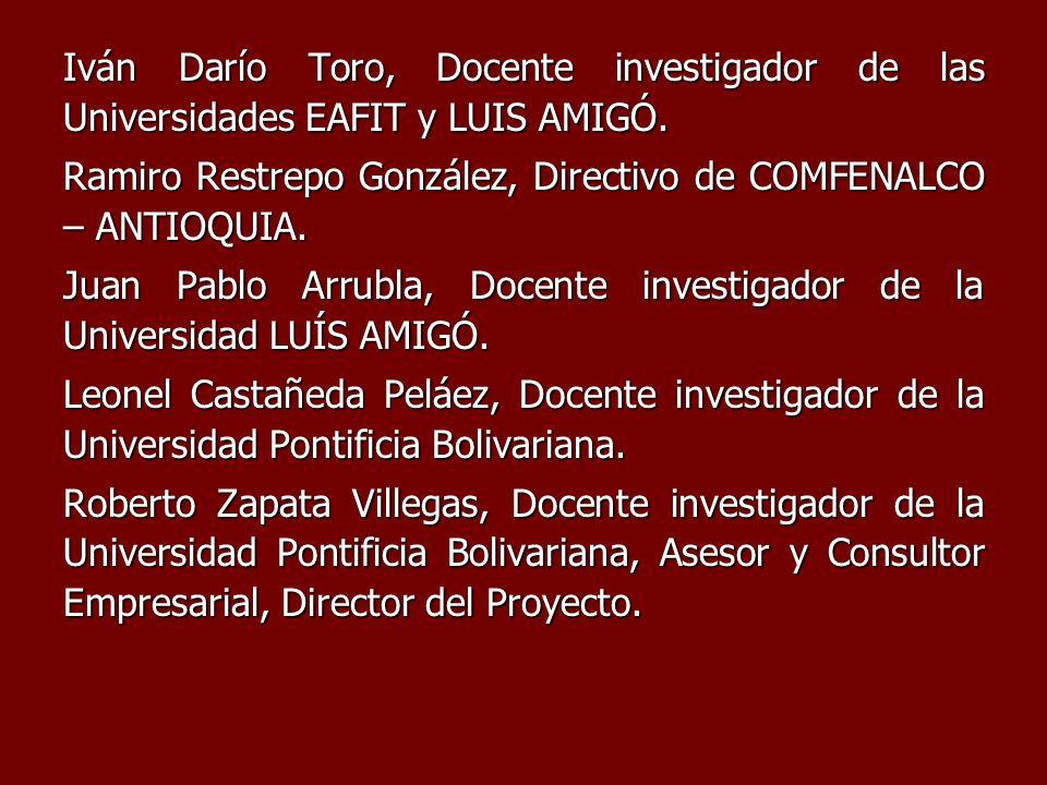 Iván Darío Toro, Docente investigador de las Universidades EAFIT y LUIS AMIGÓ.