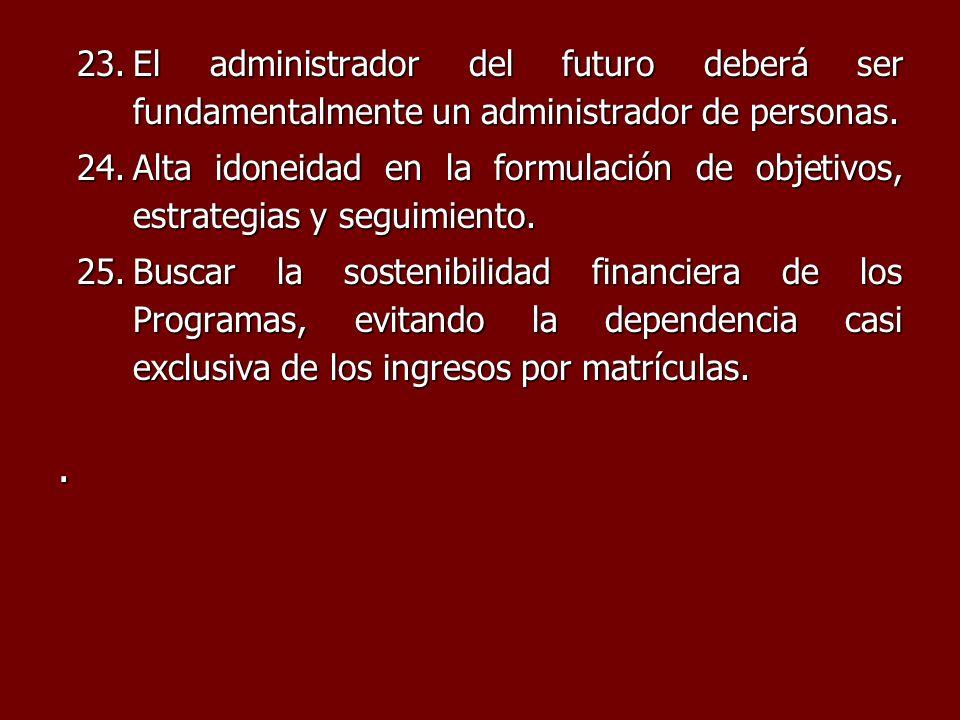 El administrador del futuro deberá ser fundamentalmente un administrador de personas.