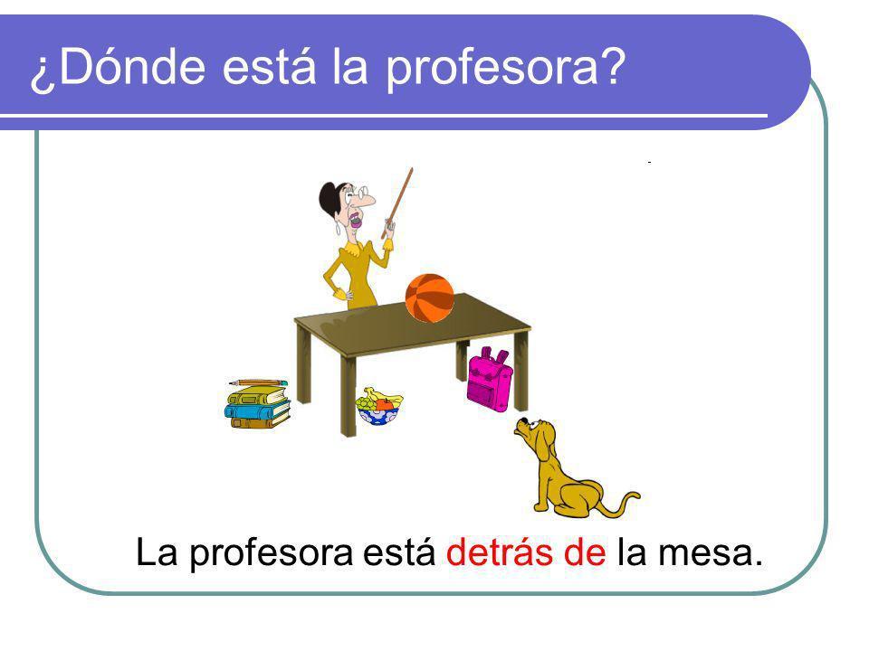 ¿Dónde está la profesora