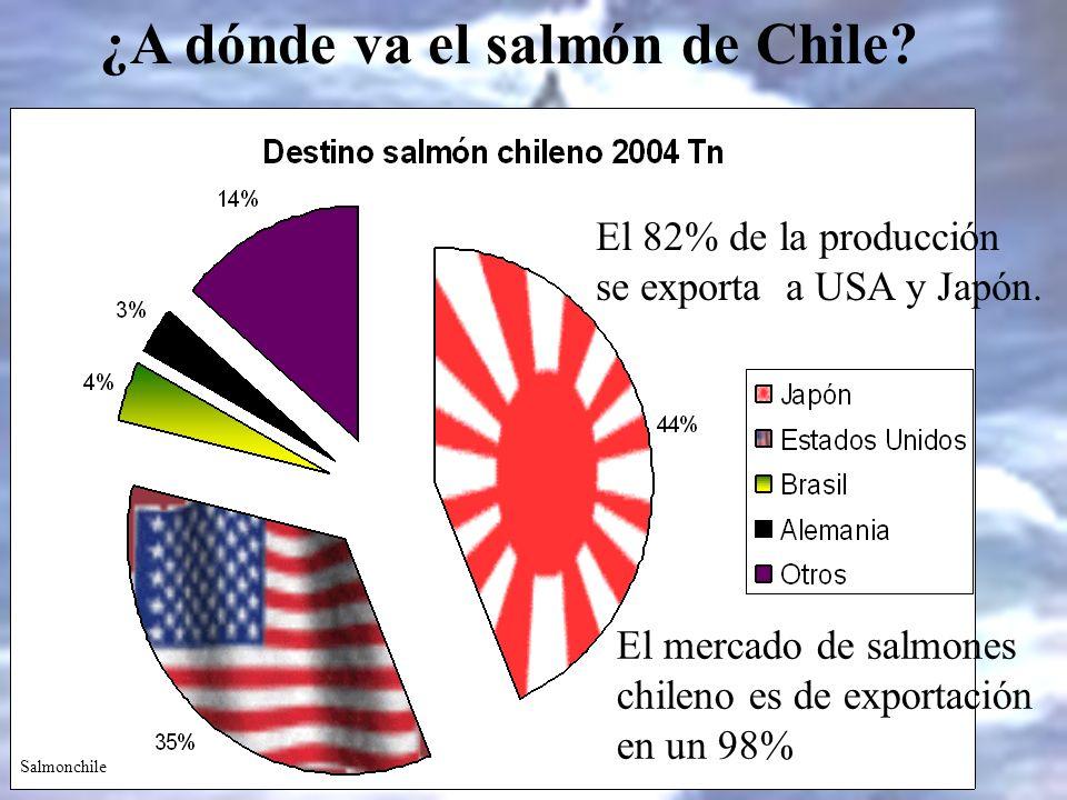 ¿A dónde va el salmón de Chile