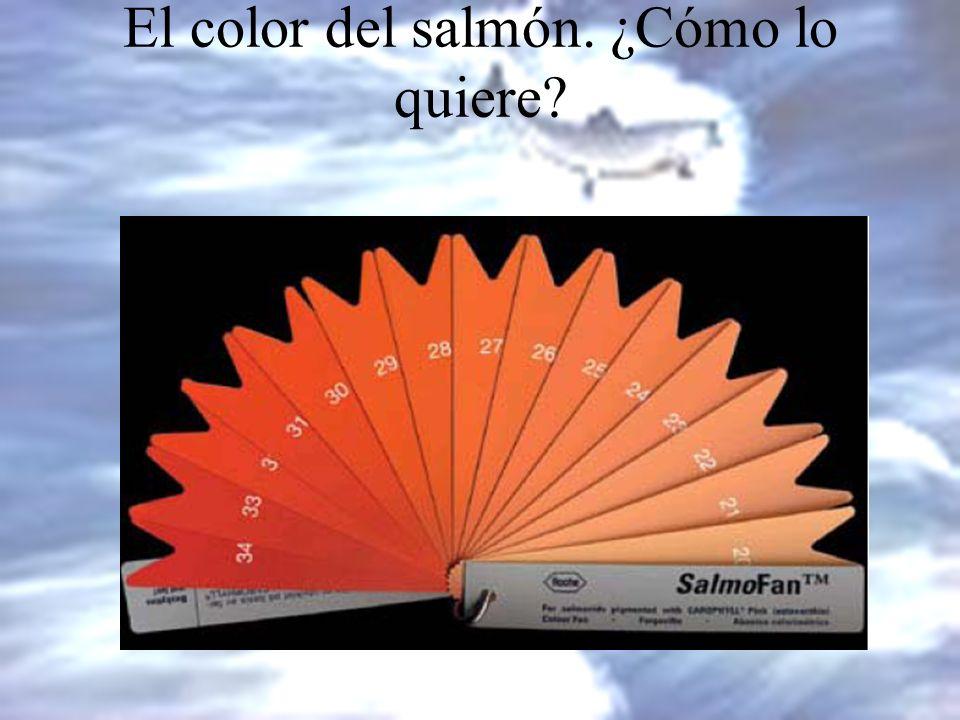 El color del salmón. ¿Cómo lo quiere