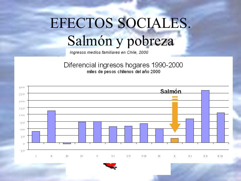 EFECTOS SOCIALES. Salmón y pobreza