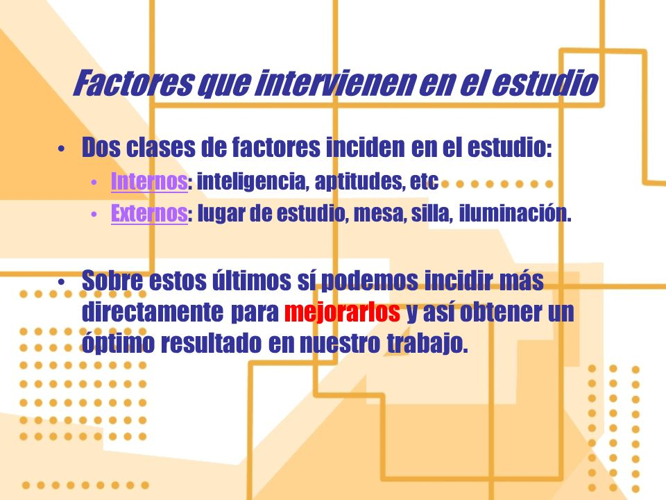 Factores que intervienen en el estudio