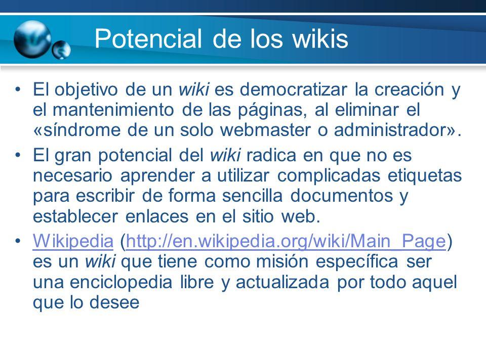 Potencial de los wikis