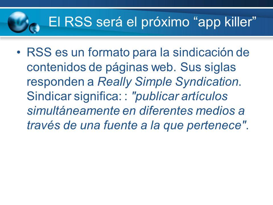 El RSS será el próximo app killer