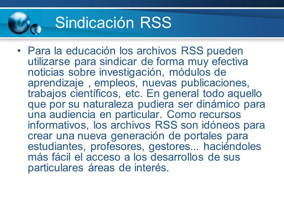 Sindicación RSS