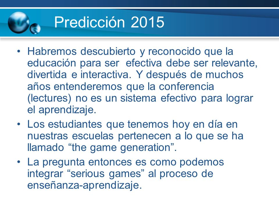 Predicción 2015