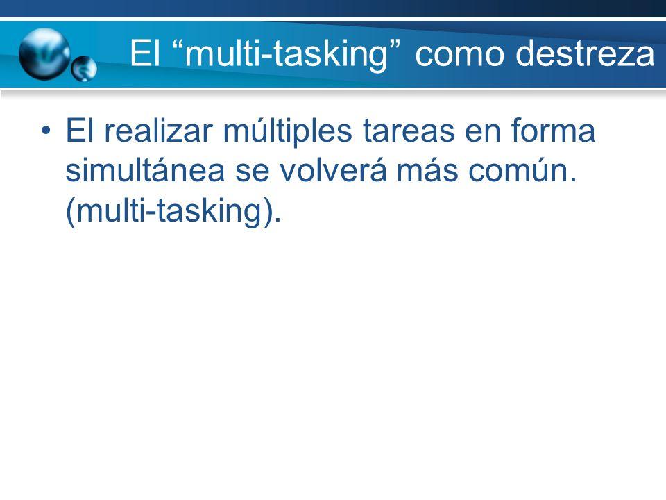El multi-tasking como destreza