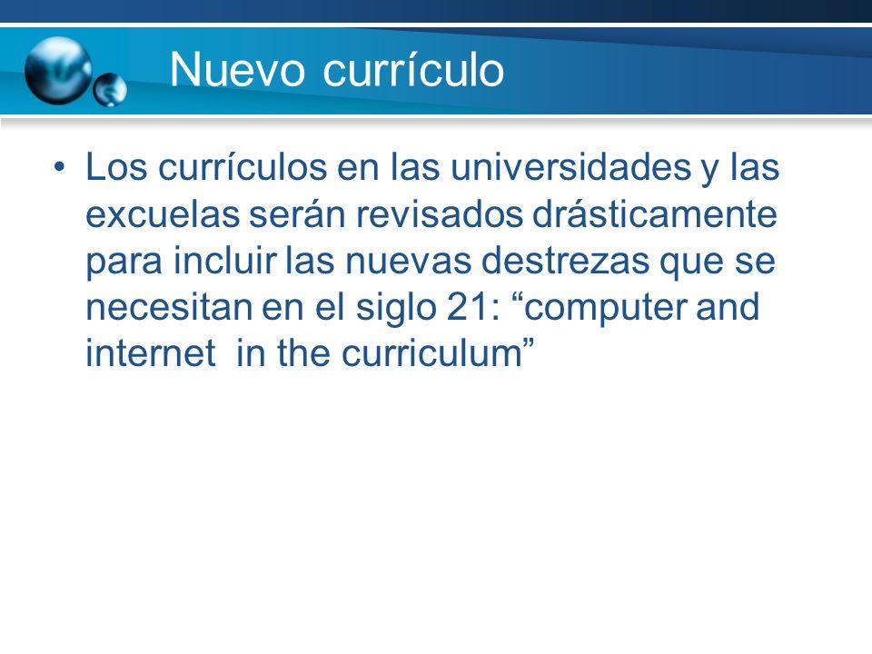 Nuevo currículo