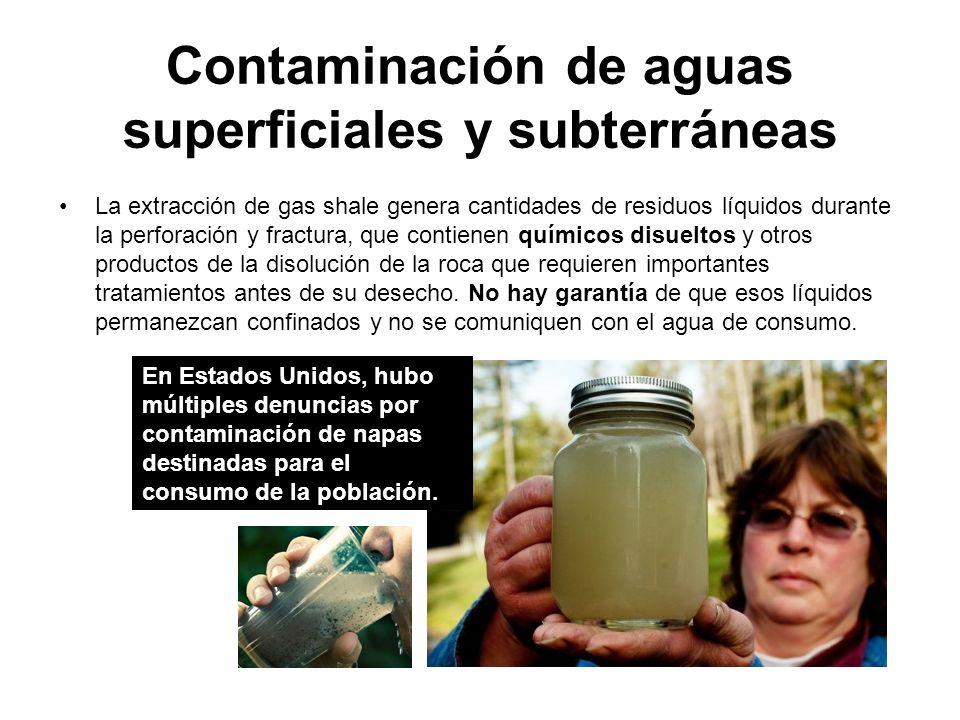 Contaminación de aguas superficiales y subterráneas