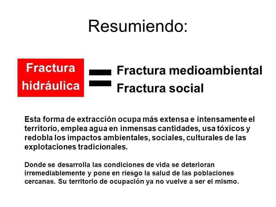 Resumiendo: Fractura medioambiental Fractura Fractura social