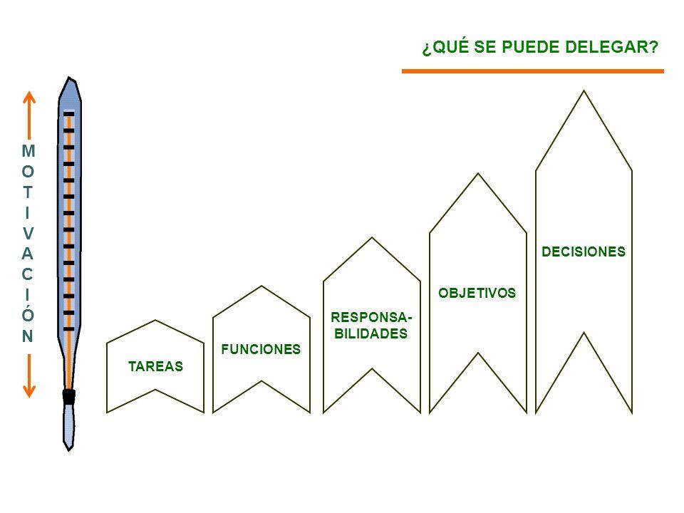 ¿QUÉ SE PUEDE DELEGAR MOTIVACIÓN DECISIONES OBJETIVOS RESPONSA-