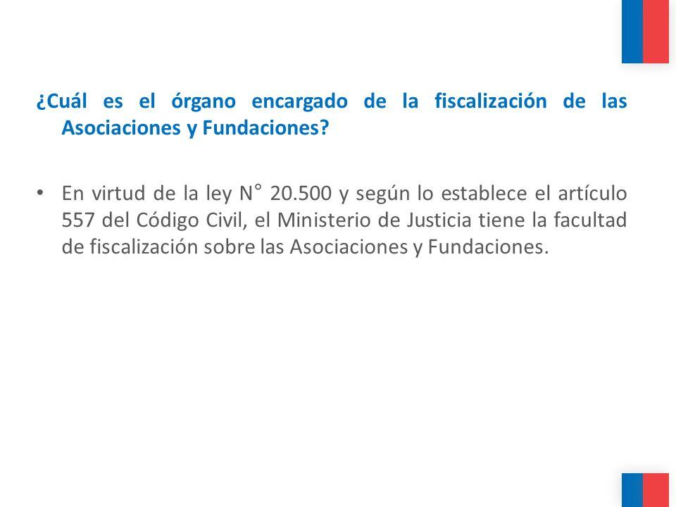 ¿Cuál es el órgano encargado de la fiscalización de las Asociaciones y Fundaciones