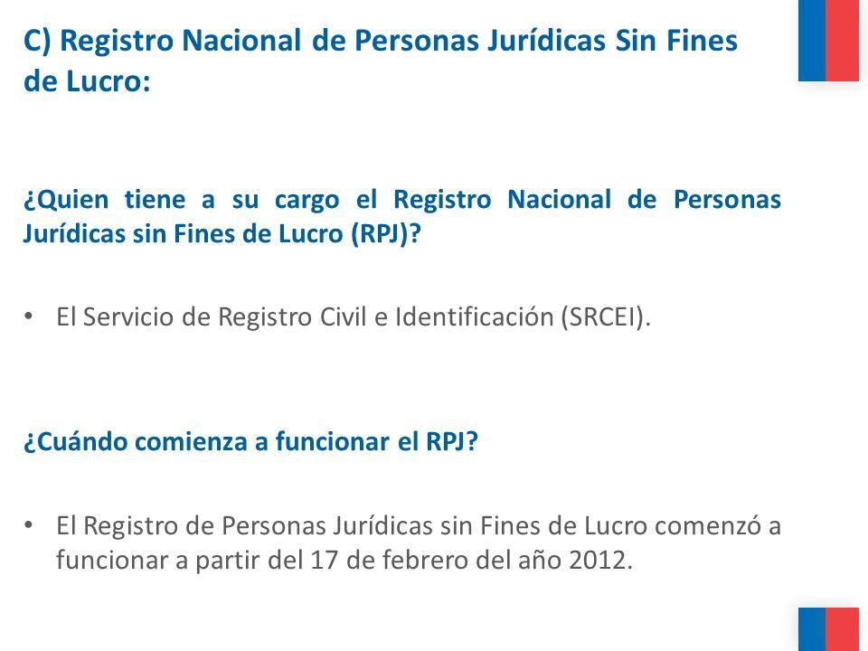 C) Registro Nacional de Personas Jurídicas Sin Fines de Lucro: