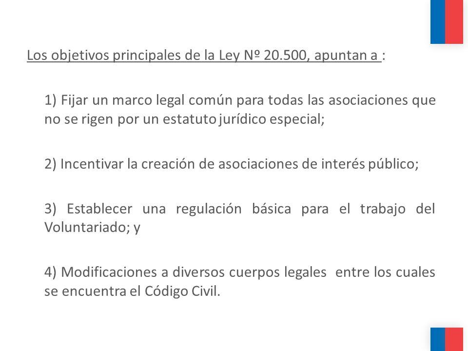 Los objetivos principales de la Ley Nº 20.500, apuntan a :