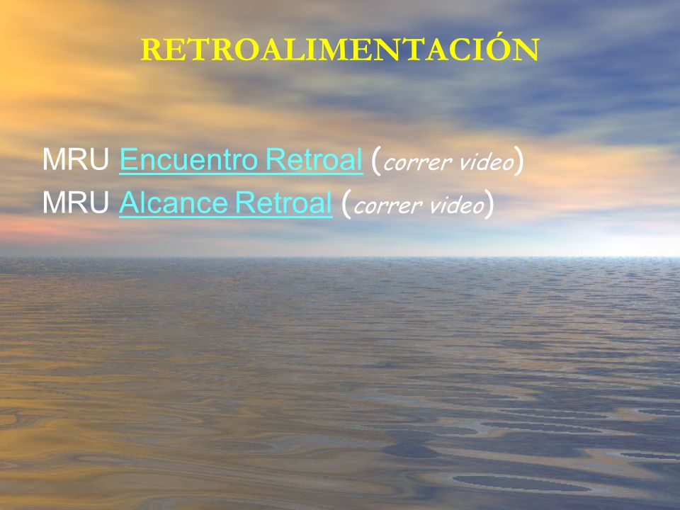 RETROALIMENTACIÓN MRU Encuentro Retroal (correr video)