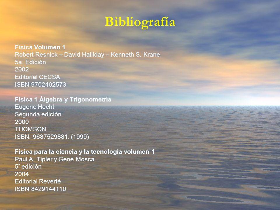 Bibliografía Fisica Volumen 1