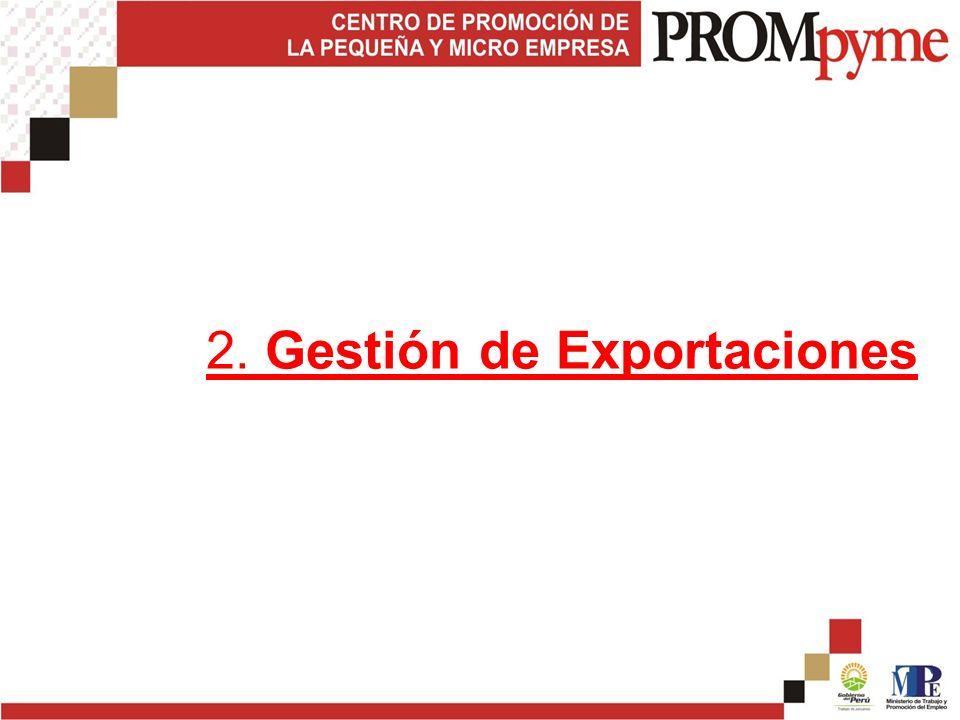2. Gestión de Exportaciones