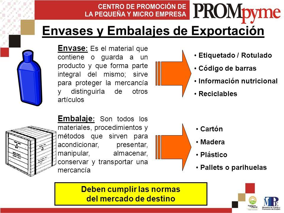Envases y Embalajes de Exportación
