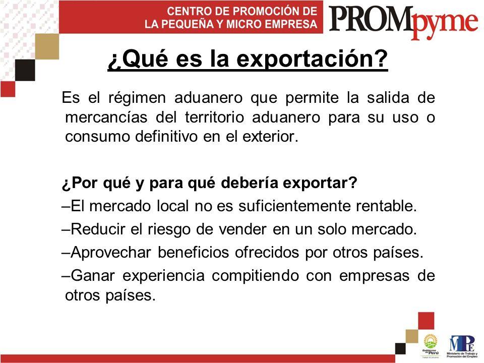 ¿Qué es la exportación