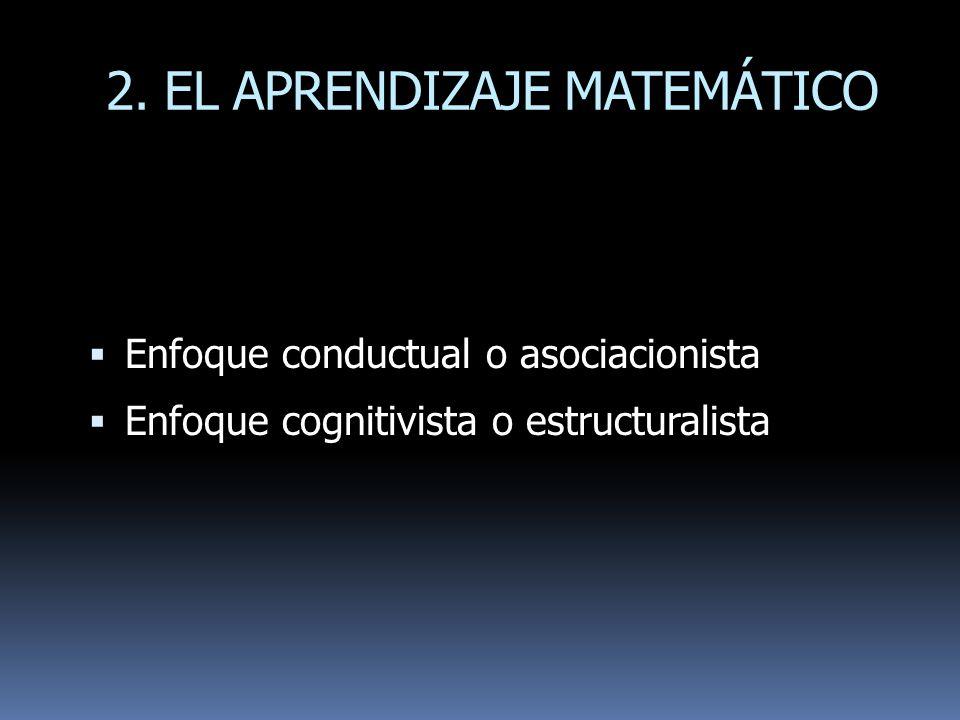 2. EL APRENDIZAJE MATEMÁTICO