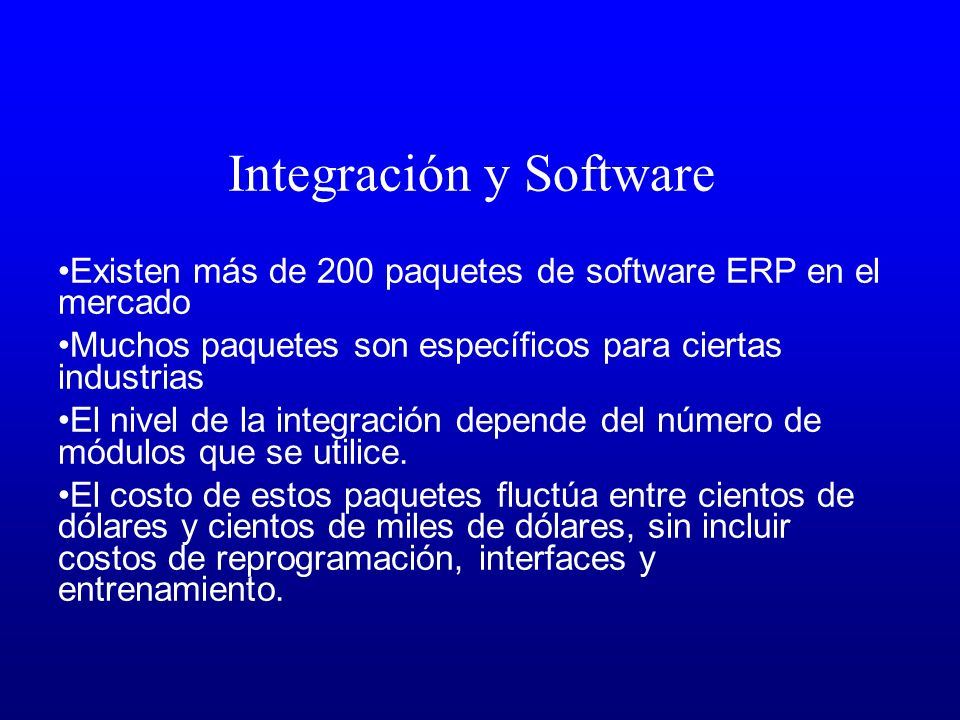 Integración y Software