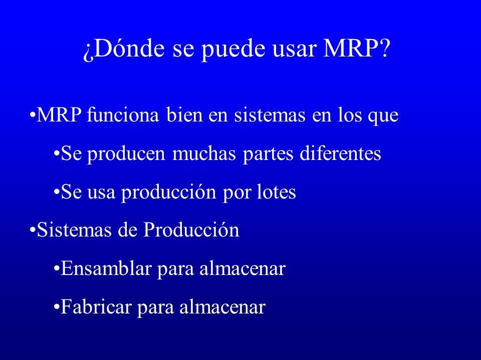 ¿Dónde se puede usar MRP