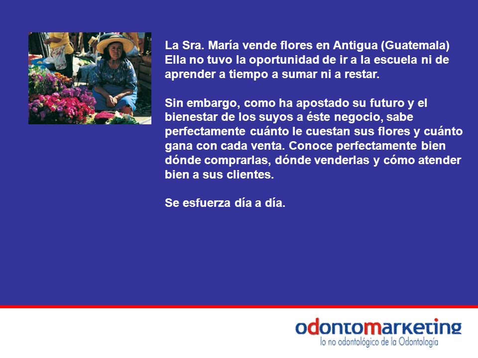 La Sra. María vende flores en Antigua (Guatemala)
