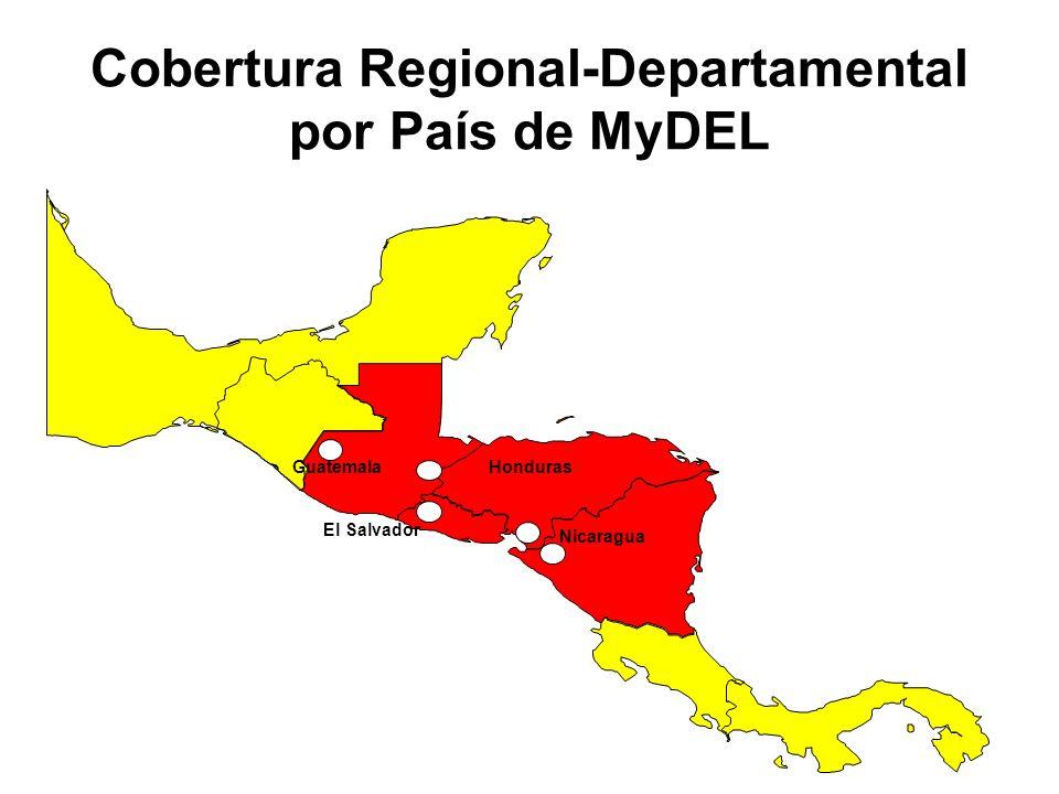 Cobertura Regional-Departamental por País de MyDEL