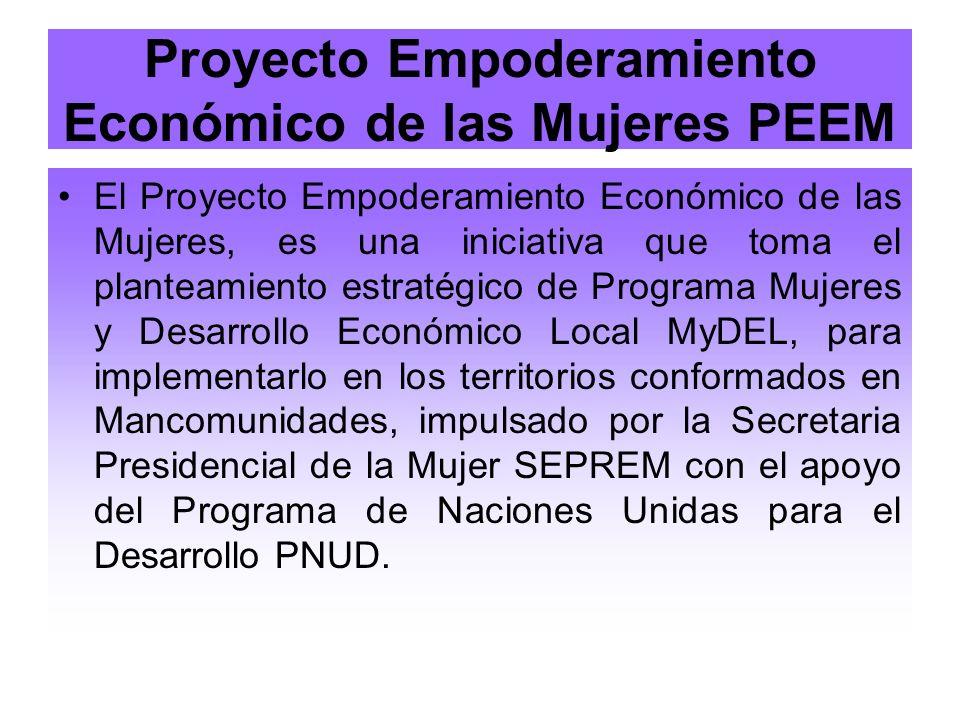 Proyecto Empoderamiento Económico de las Mujeres PEEM
