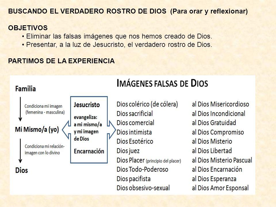BUSCANDO EL VERDADERO ROSTRO DE DIOS (Para orar y reflexionar)