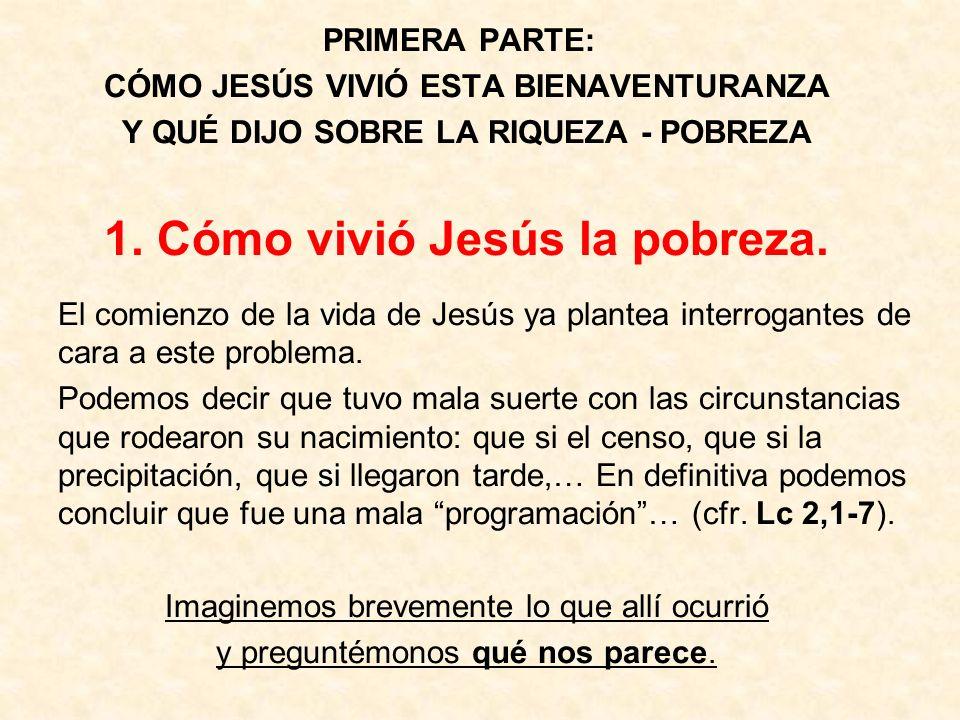 1. Cómo vivió Jesús la pobreza.
