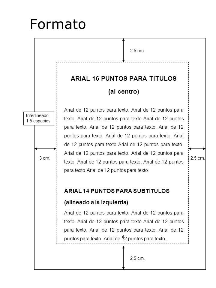 ARIAL 16 PUNTOS PARA TITULOS