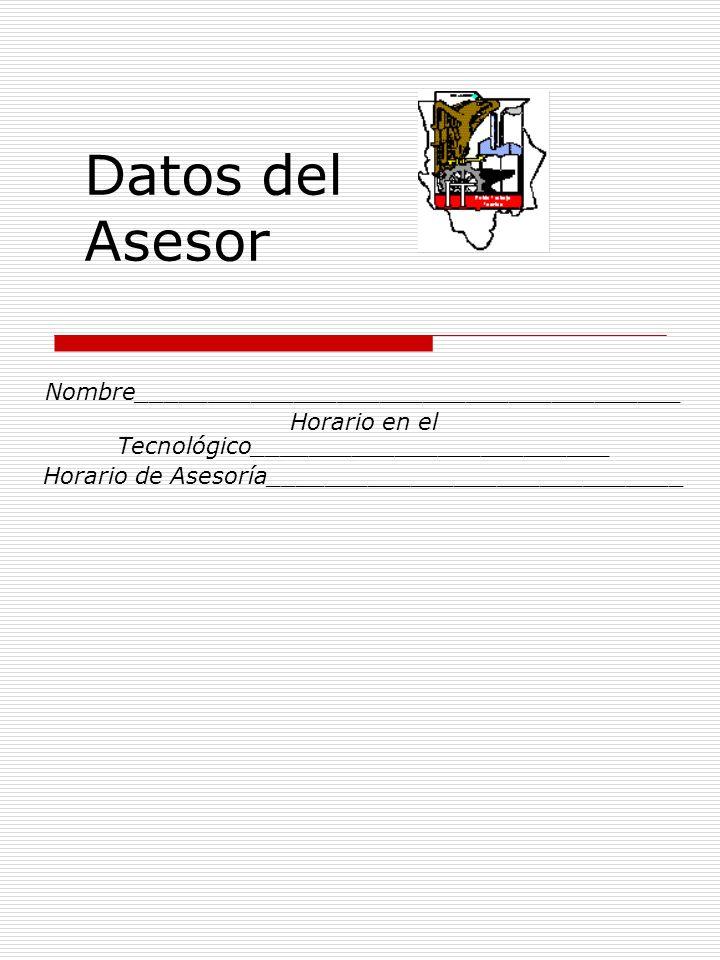 Datos del Asesor Nombre______________________________________
