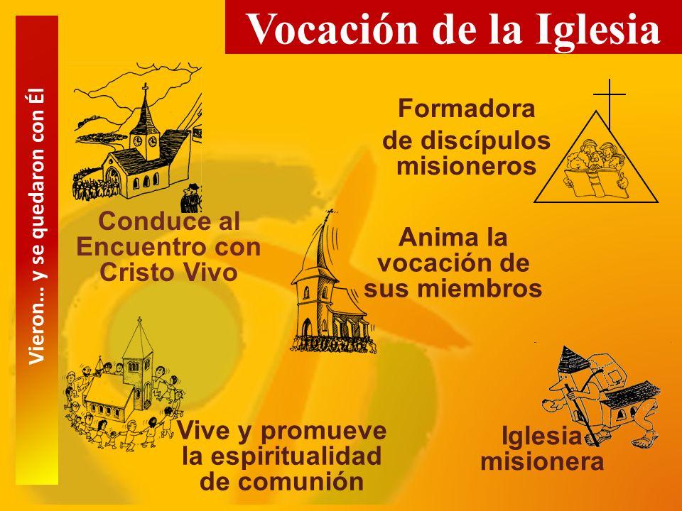 Vocación de la Iglesia Formadora de discípulos misioneros