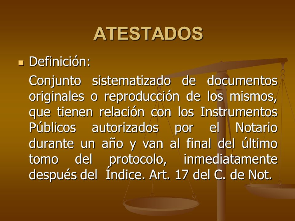 ATESTADOS Definición: